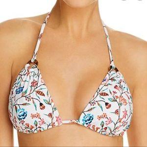 NEW Shoshanna White Veranda Floral Ring Bikini Top